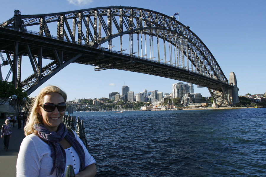 Dawes Point ja Harbour Bridge